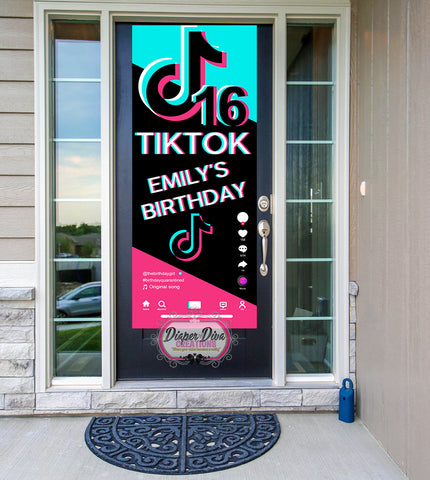 TikTok Party Front Door Banner