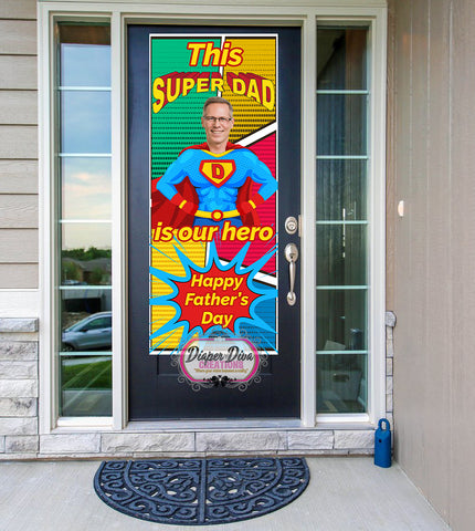 Super Dad Father's Day Front Door Banner