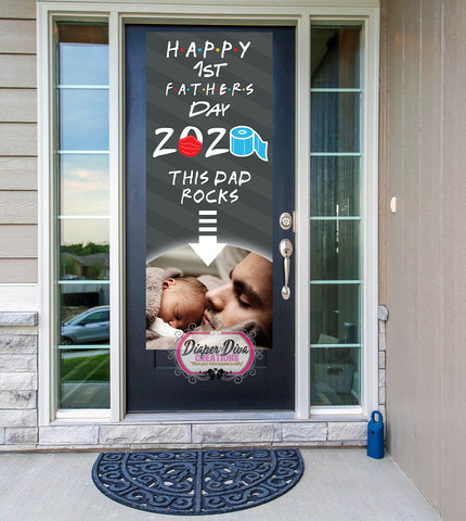 This Dad Rocks Father's Day Front Door Banner