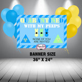 EASTER Quarantined With My Peeps Banner Digital File Only