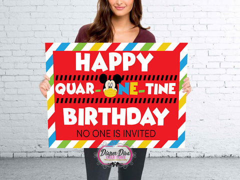 MICKEY QUAR-ONE-TINE Banner Digital File Only