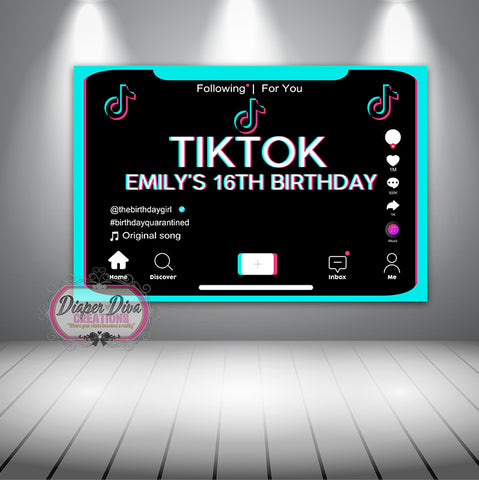 Quarantine Tiktok Banner Digital File Only You Print Diaper Diva Creations Llc