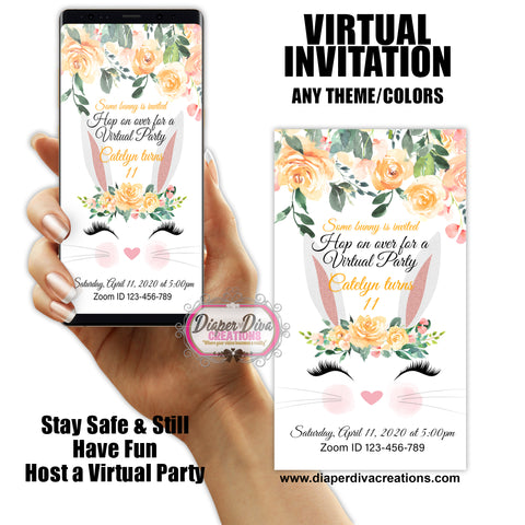 Virtual & Drive By Digital Invitation - Fast turnaround