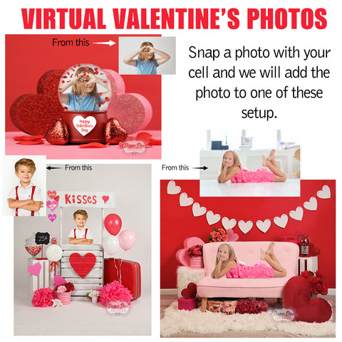 Virtual Valentine's Photo 5x7 -Digital File