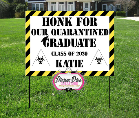 Honk for Our Graduate Yard Sign