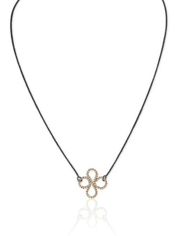 Single Clover Necklace in 14k Gold and Silver