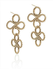 Double Clover Earring in 14k Gold