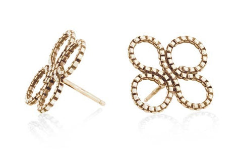 Clover Stud Earring in 14k Gold