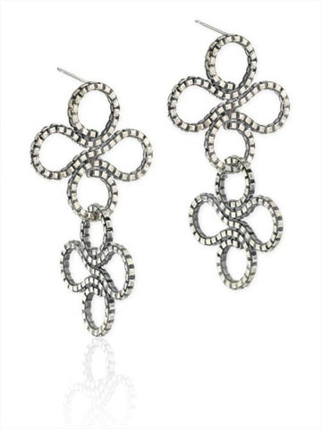 Double Clover Earring in Sterling Silver