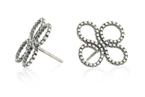 Clover Stud Earring in Sterling Silver
