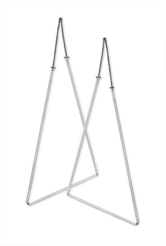 Geometric Earrings in Sterling Silver (Large Triangles)