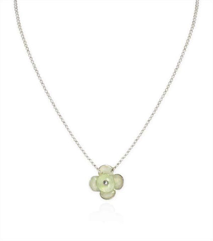 Small Flower Necklace with Prehnite