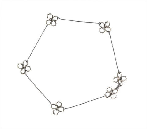 Clover Choker in Sterling Silver