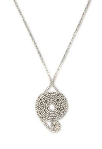 Asymetric Spiral Box Chain Necklace