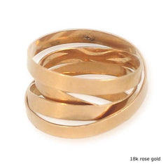 18k Gold Fettucini Ring (3mm)