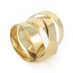 18k Gold Extra Wide Fettucini Ring (5mm)