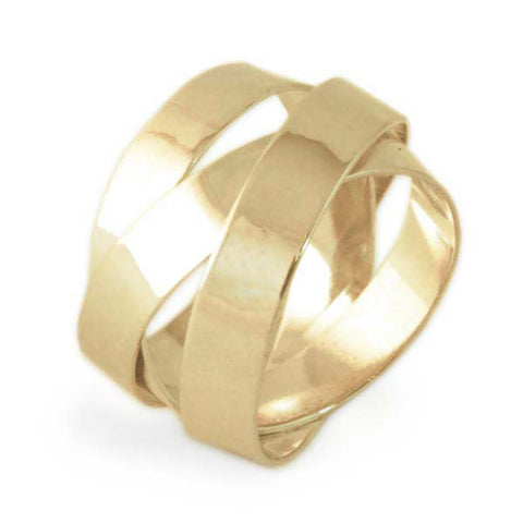 18k Gold Fettucini Ring (5mm)