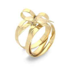 18k Gold Bow Ring