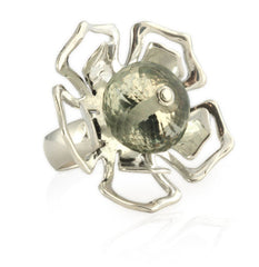 Prasiolite Flower Ring