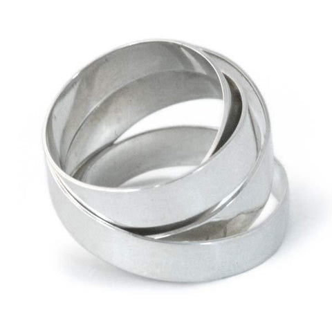 Extra Wide Silver Fettucini Ring (5mm)