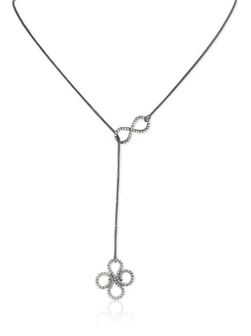 Double Clover Lariat in Sterling Silver