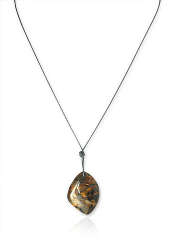 Knotted Sterling Silver and Pietersite Necklace