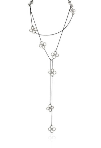 Long Convertible Clover Necklace in Sterling Silver