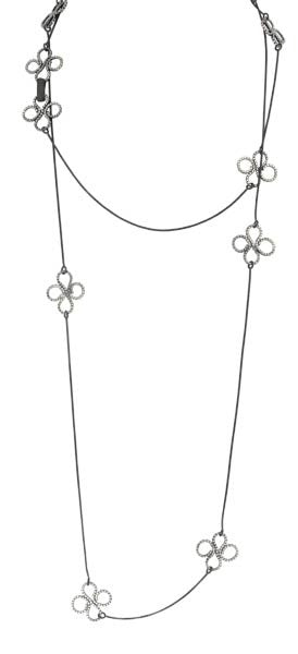 c2e65b01e Long Convertible Clover Necklace in Sterling Silver | Necklaces ...
