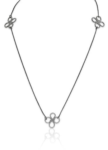 Triple Clover Necklace in Sterling Silver