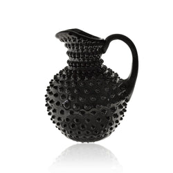 Black Glass Hobnail Jug