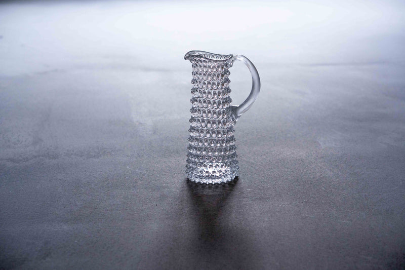 Clear Hobnail Jug Tall from the front