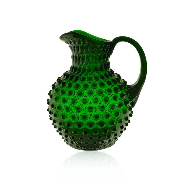 Dark Green Hobnail Pitcher by KLIMCHI