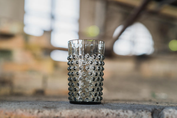 Grey Smoke Hobnail Tumbler (set of 6 pieces)