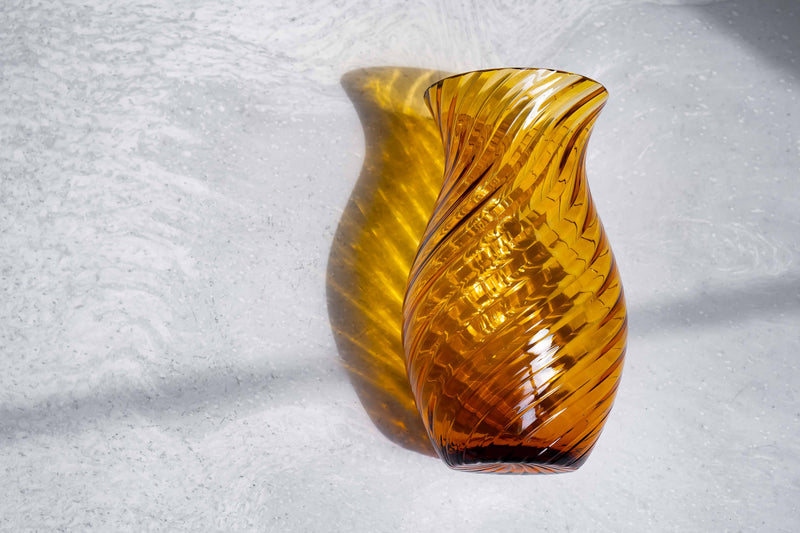 Amber Imperial Vase Tall