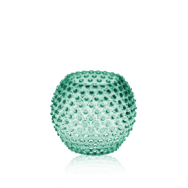 Beryl Green Glass Round Vase