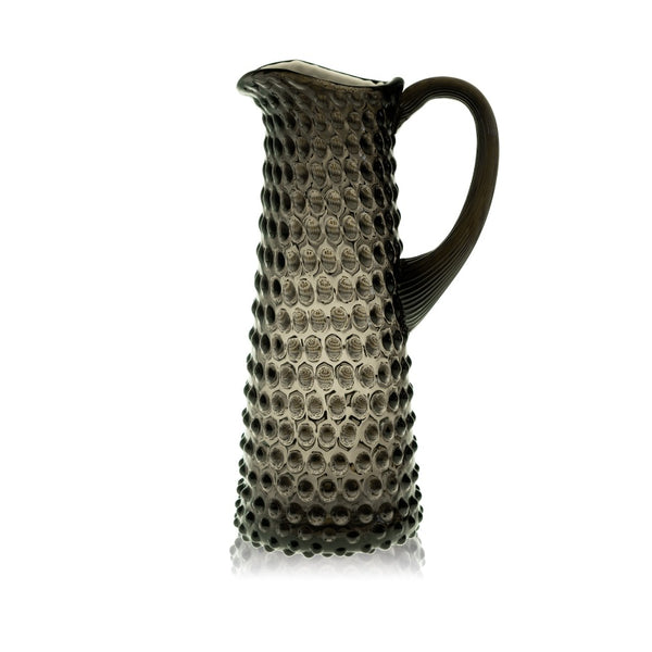 Black Smoke Hobnail Jug Tall