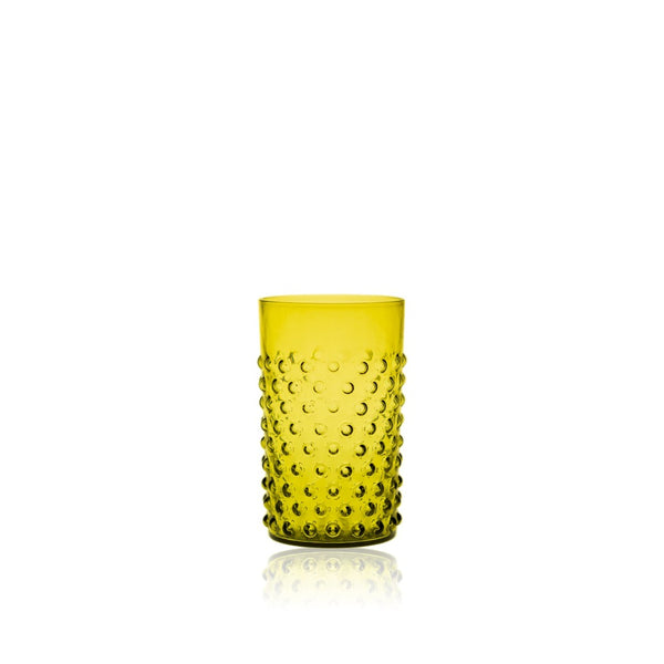 Bonsai Green Hobnail Glass tumbler