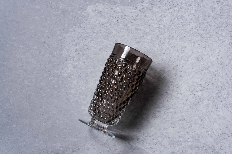 Brown Smoke Hobnail Goblet (set of 2 pieces)