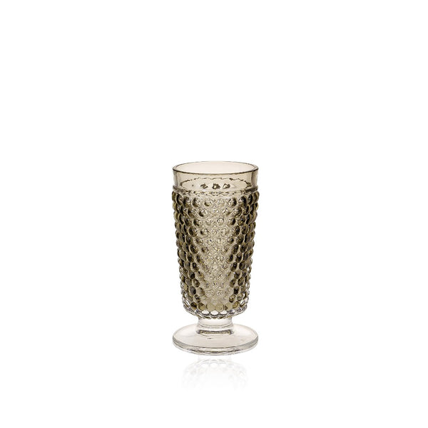 KLIMCHI Brown Smoke Hobnail Goblet by KLIMCHI