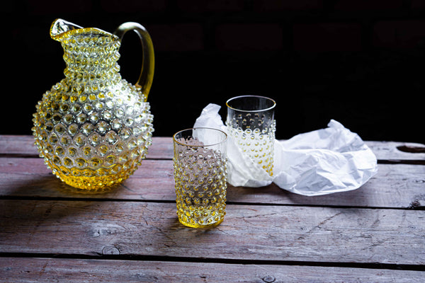 Citrine Hobnail Tumbler (set of 6 pieces)