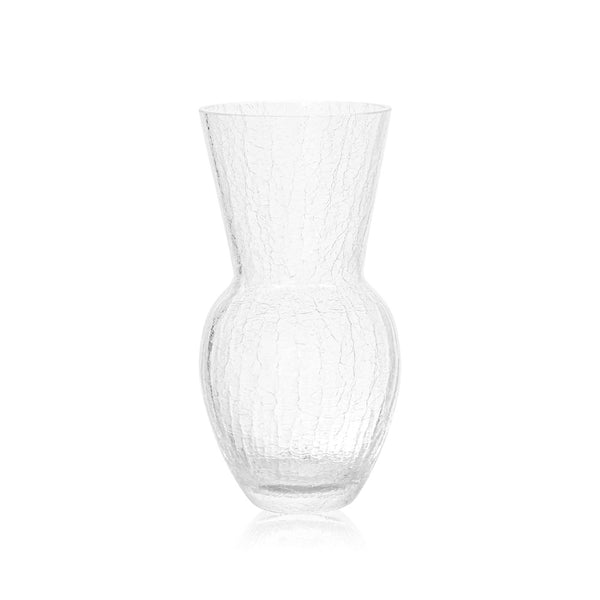Crystal Clear Crackle Vase