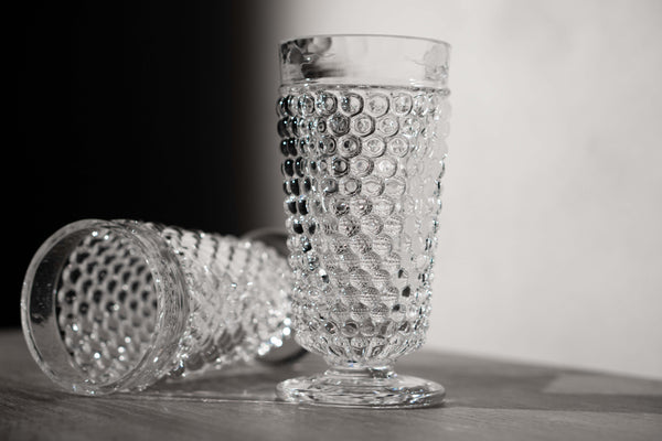 Close-up photo to Crystal Hobnail Goblet Set