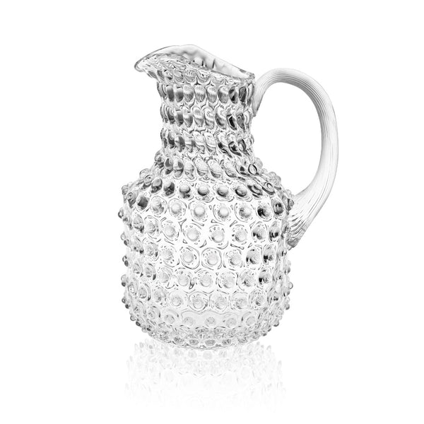 Crystal Hobnail Square Jug by KLIMCHI