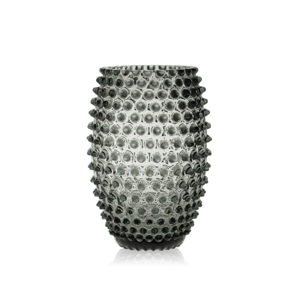 Grey Smoke Egg Hobnail Vase