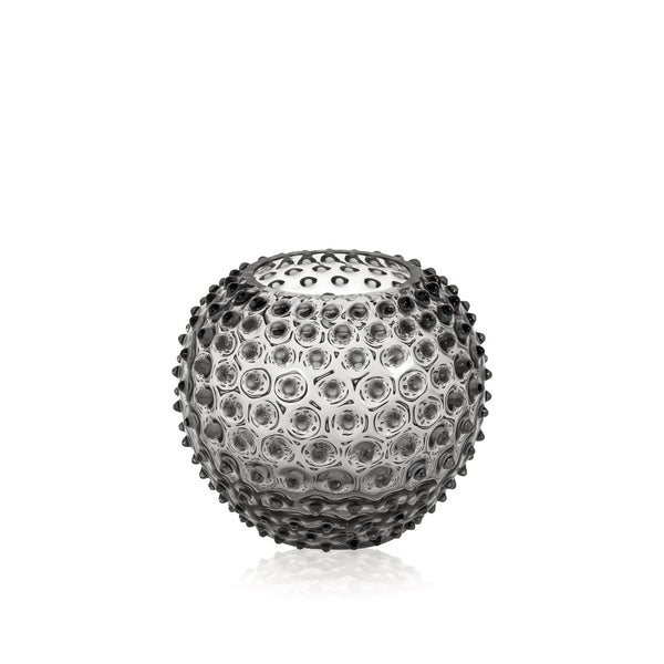 Grey Smoke Hobnail Round Vase by KLIMCHI
