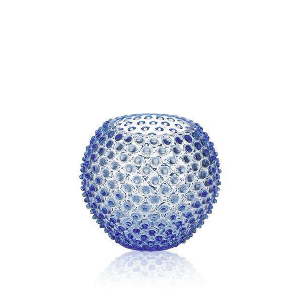 Light Blue Hobnail Round Vase by KLIMCHI