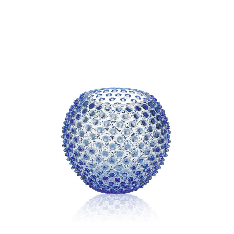 Light Blue Hobnail Vase