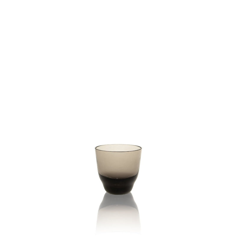 SHADOWS <br> Espresso Glass Cup in Midnight Grey <br> (Set of 2)