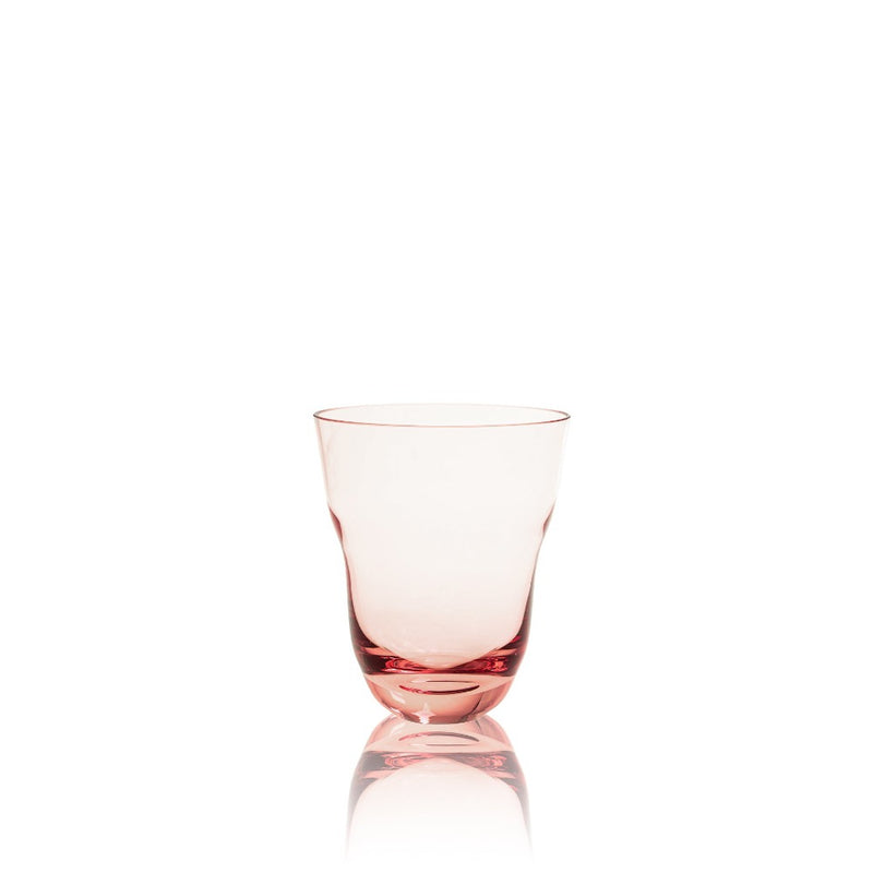 Suede Pink High Ball Glass from Shadows collection by KLIMCHI