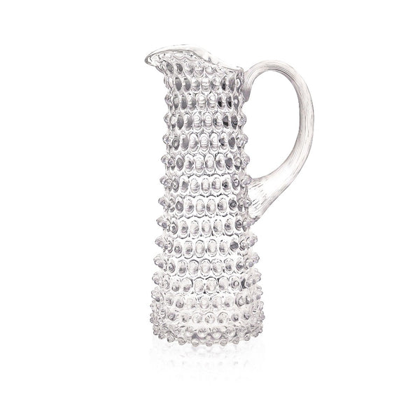 Tall Crystal Hobnail Pitcher by KLIMCHI
